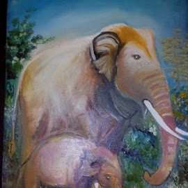Elephant  by Vinay Tr - Painting All Painting