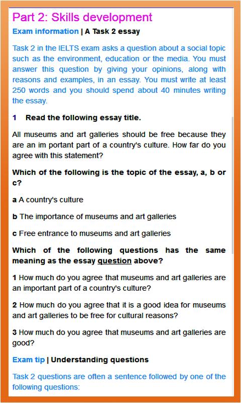 skills and applications task essay