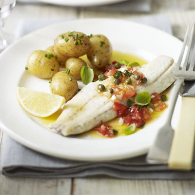 Grilled Bass With Sauce Vierge