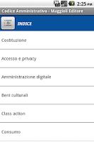 Screenshot of Codice Amministrativo