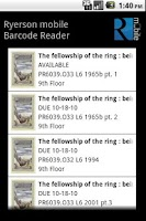 Screenshot of Ryerson mobile