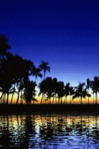 Scenic Sunset Lake