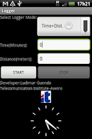Screenshot of GPS LOGGER with KML