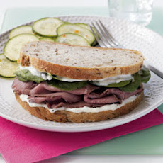 Roast Beef Sandwich with Horseradish A�oli
