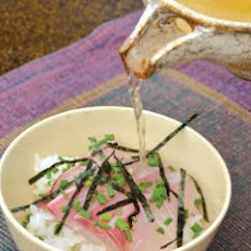 Yellowtail Sashimi on Rice Recipe