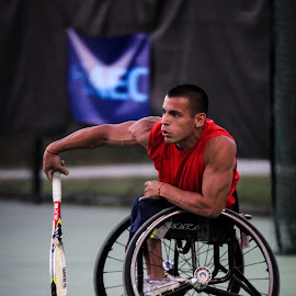 Wheelchair tennis 1 by Chris Campbell Stacy Campbell - Sports & Fitness Tennis