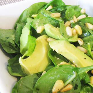 Avocado & Spinach Salad with Pine Nuts