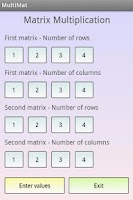 Screenshot of Matrix Multiplication