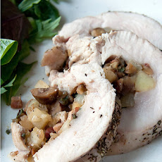 Stuffed Turkey Breast with Apples and Chestnuts