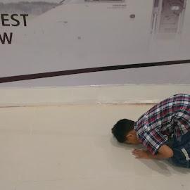 World's best grant by Zulkifli Khair - People Street & Candids ( muslim, prayer, airport, fajr prayer, submission to god )
