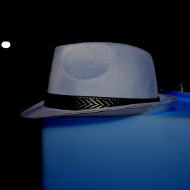 Fedora on Ledge by Lorraine D.  Heaney - Artistic Objects Clothing & Accessories