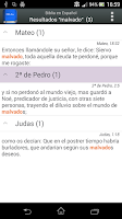 Screenshot of Biblia en Español Reina Valera