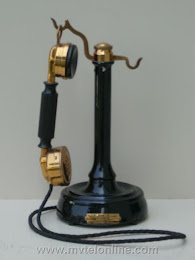 Candlestick Phones - Ericsson French Handset Candlestick Telephone 1