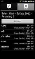 Screenshot of Softball Stats Pro