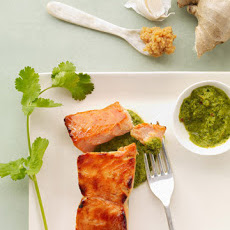 Miso Salmon with Cilantro Salsa