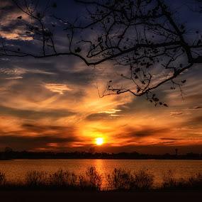 Peaceful by Linda Karlin - Landscapes Sunsets & Sunrises ( sunset, landscape,  )