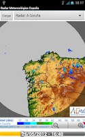 Screenshot of Radar Meteorológico España,