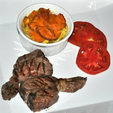Lamb Cutlets With Cheesy Sweet Potato Bake