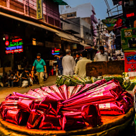A typical Old Delhi Street in India by Amit Singho - City,  Street & Park  Markets & Shops ( indian weddings, mehandi, old delhi streets, india, purani dilli,  )