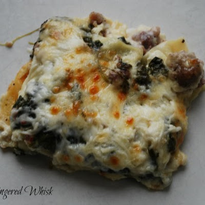 Turkey Sausage and Spinach Lasagna