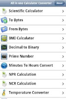 Screenshot of All inone Calculator Converter