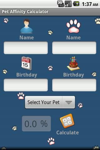 Pet Affinity Calculator