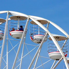 Going Up! by Ingrid Anderson-Riley - City,  Street & Park  Amusement Parks