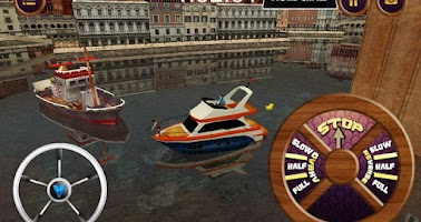 Screenshot of cabin cruiser 3D boat sim game