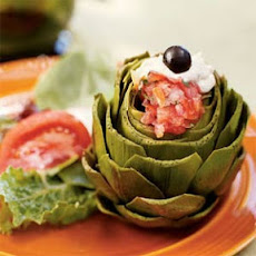 Steamed Artichokes with Fajita Vinaigrette and Creamy Pesto