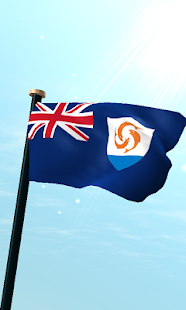Anguilla Flag 3D Free - screenshot