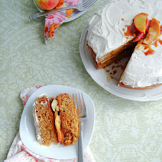 Apple Caramel Cake ~ Cinnamon Frosted