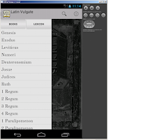 Screenshot of Bible: Latin Vulgate + DRC