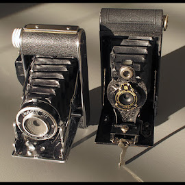 Foldex 20 and Kodak Hawk-Eye Folding Cameras by Guy Diehl  ©2014 - Artistic Objects Antiques ( film, vintage, camera )