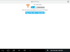 Screenshot of WiFi FTP (WiFi File Transfer)