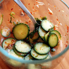 Spicy Smoky Sour Cucumber Salad