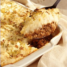 Cheese and herb-crusted Cottage Pie
