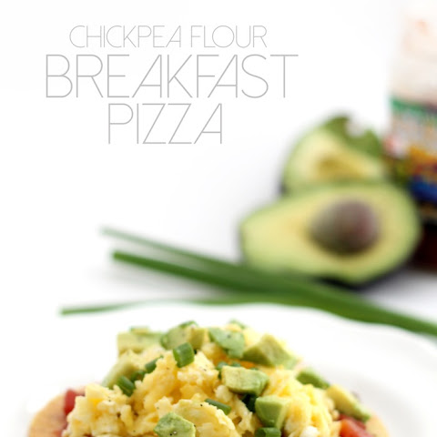 Chickpea Flour Breakfast Pizza