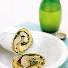 Chicken Salad and Havarti Cheese Wrap
