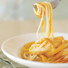 Linguine with Carrot Ribbons and Lemon-Ginger Butter