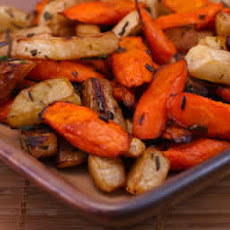 Roasted Carrots and Turnips with Herbs