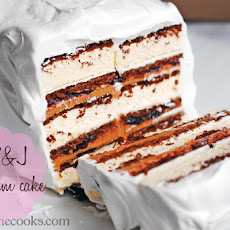 Easy Peanut Butter and Jelly Ice Cream Cake