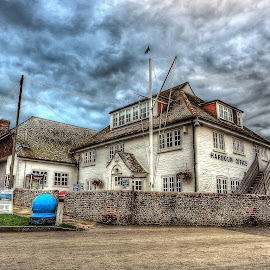 Harbour Office... by Graham Markham - Buildings & Architecture Other Exteriors ( stormy, clouds, uk, bracketed, sky, hdr, itchenor, sussex )