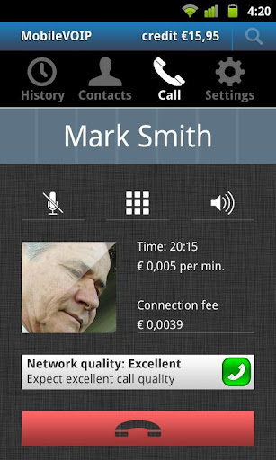 Screenshot #1 of VoipMove free dialer / Android