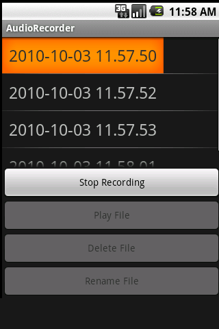 audio-recorder for android screenshot