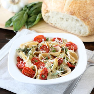 Orecchiette with Slow Roasted Tomatoes & Artichokes
