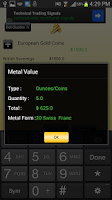 Screenshot of Gold and Silver Price