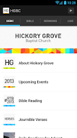 Screenshot of Hickory Grove Baptist Church