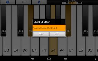 Screenshot of Piano Scales & Chords Pro