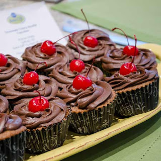 Chocolate Cherry Souffle Cupcakes