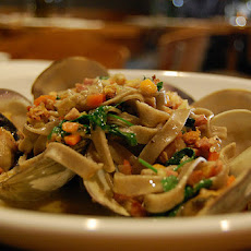 Linguini with Clams, Mussels, Rock Shrimp and Calamari in Spicy Tomato Sauce